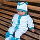 """Одежда ручной работы. Ярмарка Мастеров - ручная работа. Купить плюшевый комбинезон для новорожденного""""Мишка"""". Handmade. Белый, комбинезон для малыша, плюшевый"""