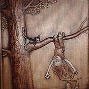 Картины и панно ручной работы. Ярмарка Мастеров - ручная работа Резное дерево_Радоваться жизни. Handmade.