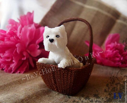 """Мыло ручной работы. Ярмарка Мастеров - ручная работа. Купить Мыло для рук """"Вести в корзинке"""". Handmade. Собака, животные"""