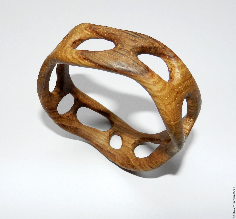 Bracelets handmade. Livemaster - handmade. Buy Bracelet made of wood (oak).Gifts, decoration, on hand, flaxseed oil