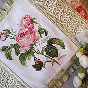 Для дома и интерьера ручной работы. Ярмарка Мастеров - ручная работа Подушка  Роза П002. Handmade.