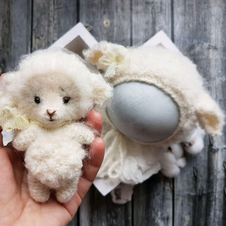 Набор овечка в молочном. Newborn props, Реквизит для детской фотосессии, Горячий Ключ,  Фото №1
