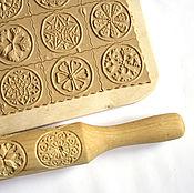 Для дома и интерьера ручной работы. Ярмарка Мастеров - ручная работа Прованс скалка для печатного печенья и пряников в подарок маме. Handmade.