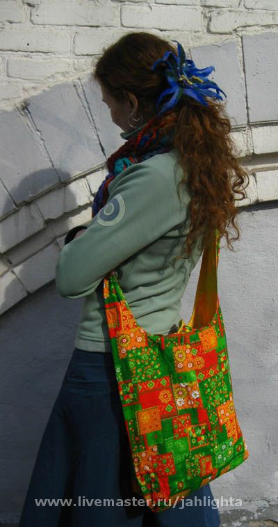 Bags & Accessories handmade. Livemaster - handmade. Buy Bilateral bag 'over the shoulder'.100% cotton, cotton
