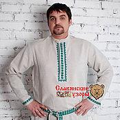 Одежда handmade. Livemaster - original item Men`s linen shirt