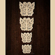 Материалы для творчества handmade. Livemaster - original item Lace butterfly embroidery applique patch FSL. Handmade.