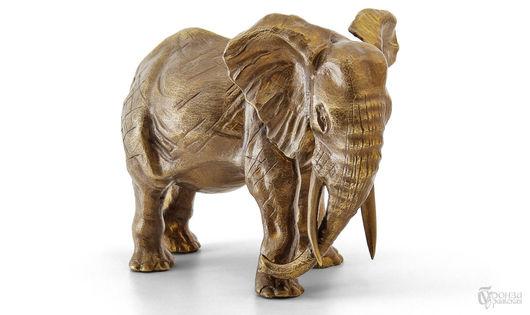 Элементы интерьера ручной работы. Ярмарка Мастеров - ручная работа. Купить Слон №3. Handmade. Слон, слоны, африка, патина