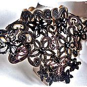 Украшения ручной работы. Ярмарка Мастеров - ручная работа кожаный воротник-шарф `` Петрова``. Handmade.