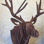 Для дома и интерьера ручной работы. Ярмарка Мастеров - ручная работа Олень из дерева. Handmade.
