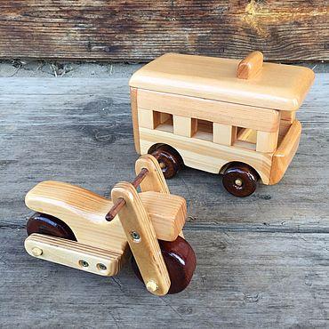 Куклы и игрушки ручной работы. Ярмарка Мастеров - ручная работа Набор мини техники №5 деревянный. Handmade.