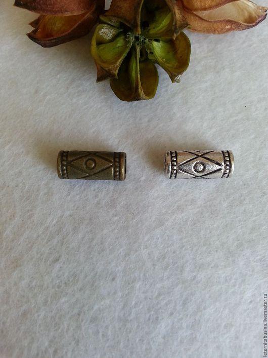 Для украшений ручной работы. Ярмарка Мастеров - ручная работа. Купить Бусины бронза и античное серебро. Handmade. Хаки
