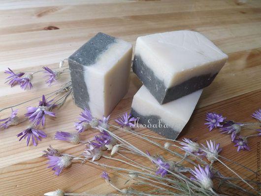"""Мыло ручной работы. Ярмарка Мастеров - ручная работа. Купить Натуральное мыло с нуля """"Лавандовые сны"""" с черной глиной. Handmade."""