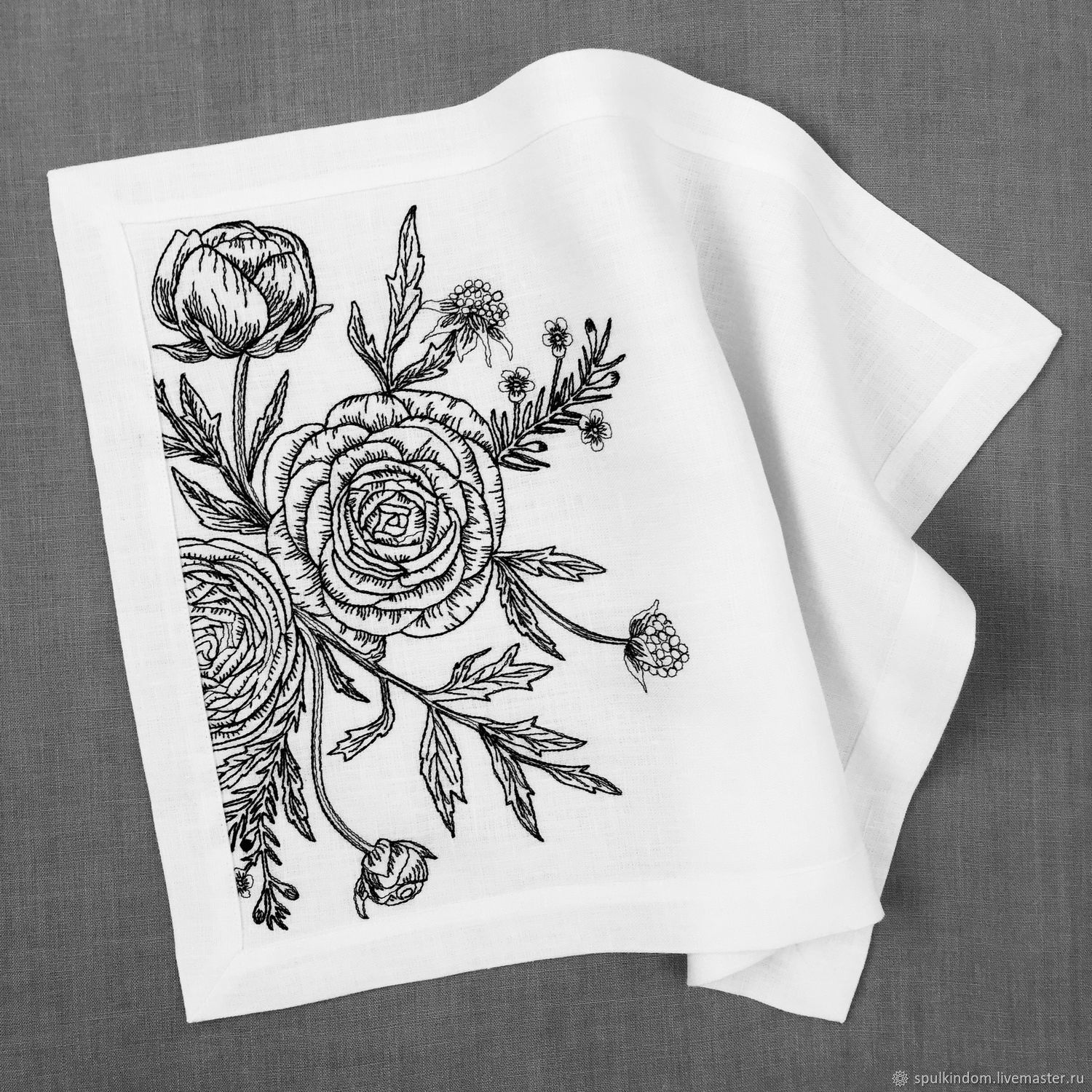 Cloth under hot embroidered 'Home is where mom is', Tablecloths, Moscow,  Фото №1