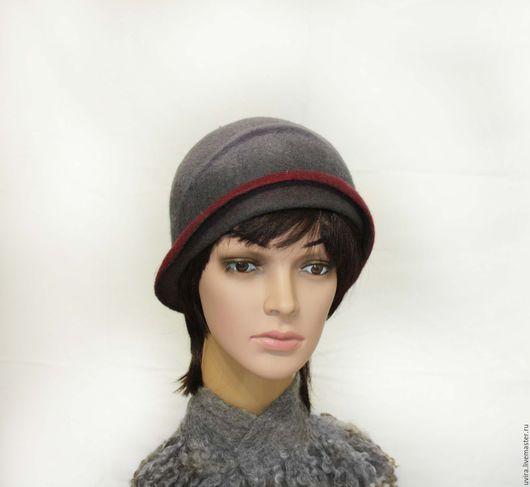 """Шляпы ручной работы. Ярмарка Мастеров - ручная работа. Купить """"Виола""""   шляпка - авторский войлок. Handmade. Разноцветный, шляпка"""