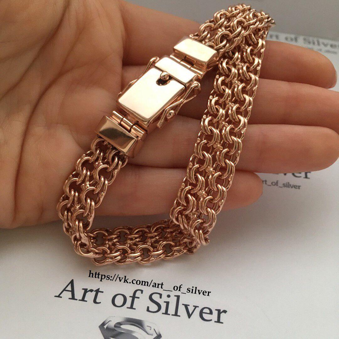 Купить браслет из серебра позолоченный
