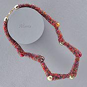 Necklace handmade. Livemaster - original item Martian Chronicles invasion. Sauria choker. Handmade.