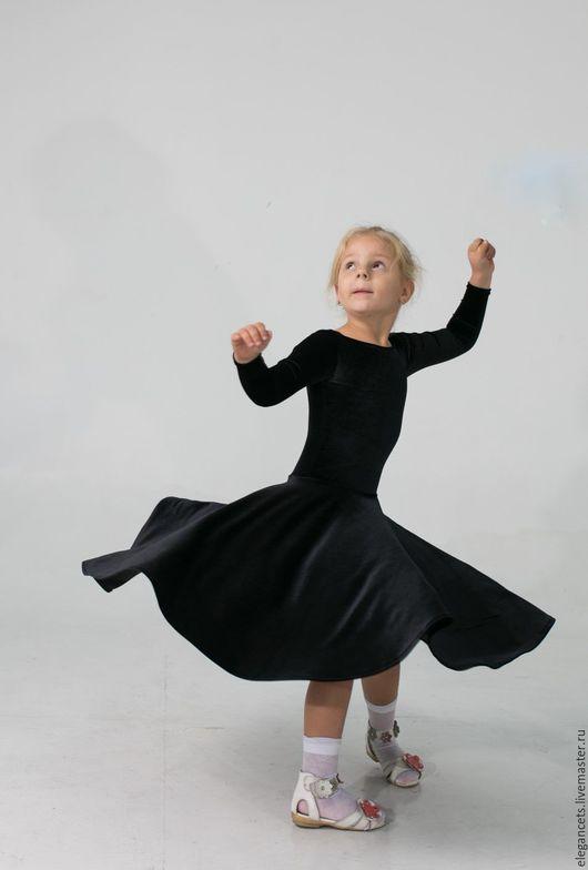 """Детские танцевальные костюмы ручной работы. Ярмарка Мастеров - ручная работа. Купить Рейтинговое платье (Бейсик) """"Бархат""""  Для самых маленьких. Handmade."""