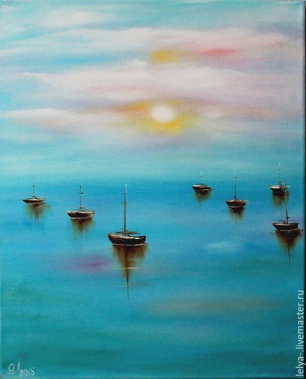 Картина маслом Безмятежное море, Пейзаж, Балашиха, Фото №1