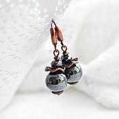 Украшения handmade. Livemaster - original item Earrings hematite