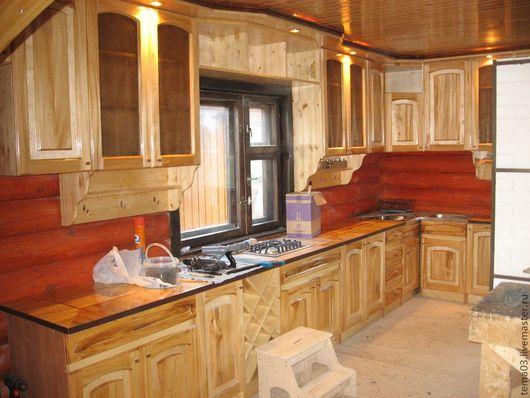 Мебель ручной работы. Ярмарка Мастеров - ручная работа. Купить Кухня. Handmade. Мебель из дерева, мебель для дачи, бежевый