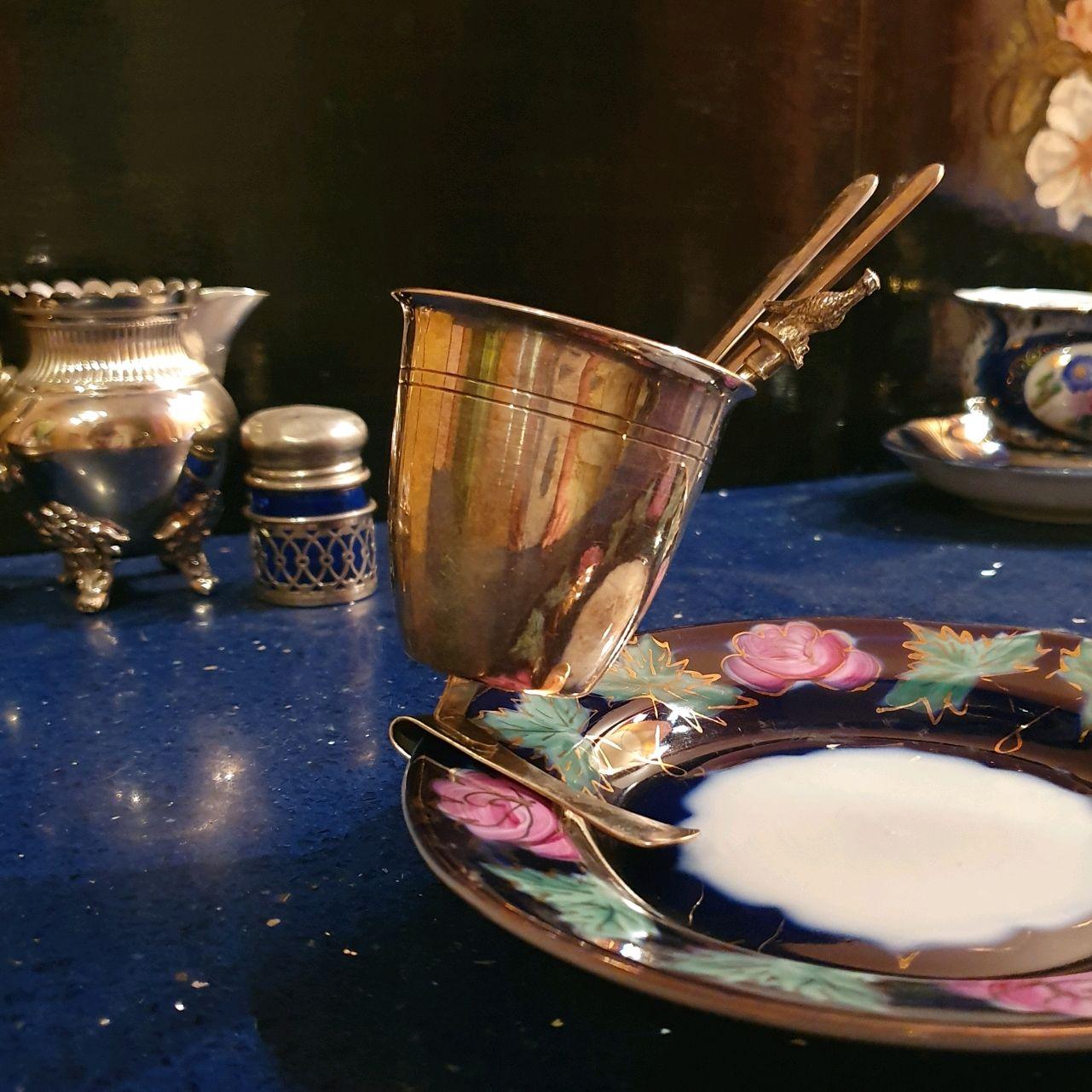Винтаж: Винтаж: SOLA 90 Посеребренный стаканчик с прищепкой, Винтажные стаканы, Москва,  Фото №1