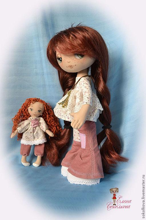 Коллекционные куклы ручной работы. Ярмарка Мастеров - ручная работа. Купить Юлька с куклой. Handmade. Кукла, для детской, для девочки