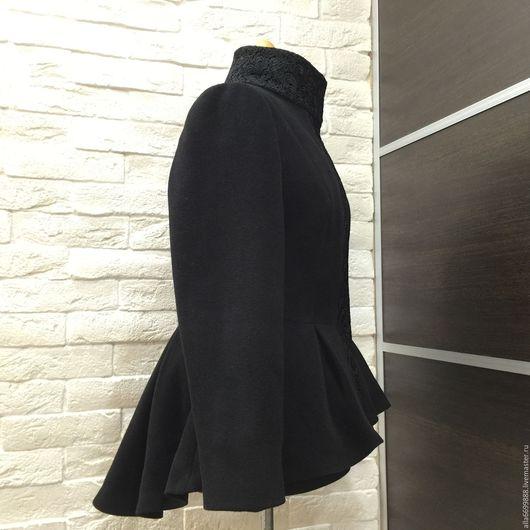 Верхняя одежда ручной работы. Ярмарка Мастеров - ручная работа. Купить Пальто Баска с кружевом. Handmade. Пальто, драп