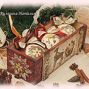 """Подарки к праздникам ручной работы. Ярмарка Мастеров - ручная работа Короб """"Пряничный"""". Handmade."""