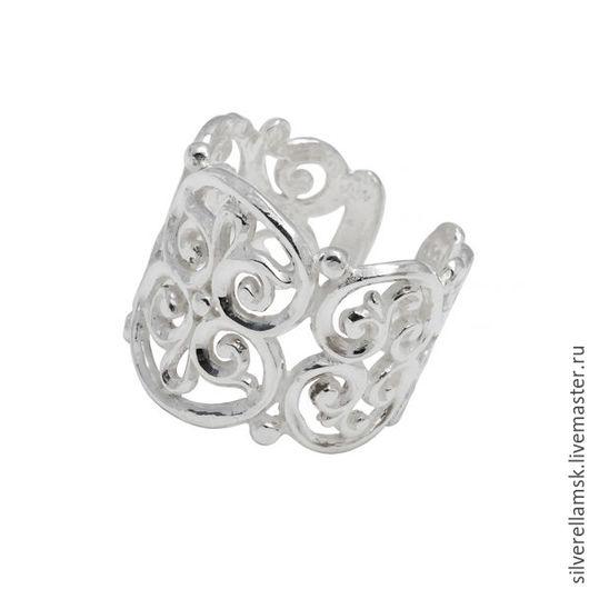 """Кольца ручной работы. Ярмарка Мастеров - ручная работа. Купить Серебряное кольцо """"Узоры-4"""" (серебро 925) USR023. Handmade."""