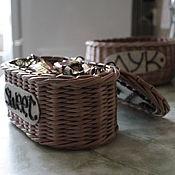 Для дома и интерьера ручной работы. Ярмарка Мастеров - ручная работа Конфетница плетеная. Handmade.