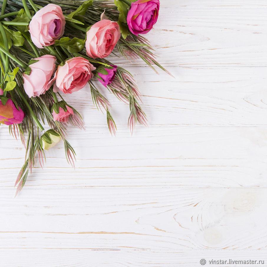 2 варианта!   Фотофон виниловый Розы и травы, Фото, Курск, Фото №1
