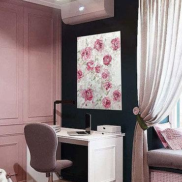 Подарки к праздникам handmade. Livemaster - original item Stylish oil painting of roses in soft pastel colours. Handmade.
