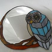 """Для дома и интерьера ручной работы. Ярмарка Мастеров - ручная работа Зеркало """"Сова"""". Handmade."""
