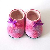 Обувь ручной работы. Ярмарка Мастеров - ручная работа Тапочки детские Розовая прелесть. Handmade.
