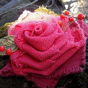 """Украшения ручной работы. Ярмарка Мастеров - ручная работа """"Арагонская роза"""" текстильная брошь. Handmade."""