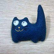 Украшения ручной работы. Ярмарка Мастеров - ручная работа Милый кот брошь прикольная. Handmade.