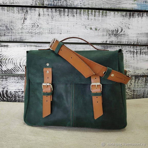 a5b664a4ba71 Backpacks handmade. Livemaster - handmade. Buy Womens leather satchel  backpack green.Bag ...