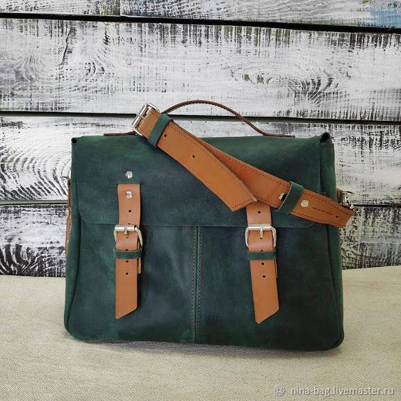 ed5e6a76afe7 Рюкзаки ручной работы. Ярмарка Мастеров - ручная работа. Купить Женская  кожаная сумка- портфель ...