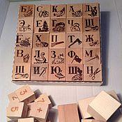 Куклы и игрушки ручной работы. Ярмарка Мастеров - ручная работа Кубики деревянные. Handmade.