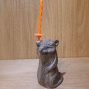 Год Крысы 2020 ручной работы. Ярмарка Мастеров - ручная работа Крыса со свечой. Handmade.
