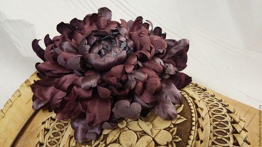 """Броши ручной работы. Ярмарка Мастеров - ручная работа. Купить Цветы из шелка. """"Ночные сумерки"""".. Handmade. Комбинированный, брошь из ткани"""