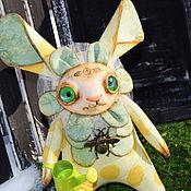Куклы и игрушки ручной работы. Ярмарка Мастеров - ручная работа Зайка Первоцвет. Handmade.