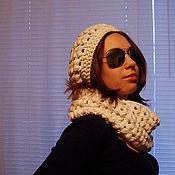 Аксессуары ручной работы. Ярмарка Мастеров - ручная работа Вяжу на заказ берет и шарф снуд. Handmade.