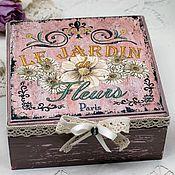Для дома и интерьера handmade. Livemaster - original item Le Gardin Fleurs jewelry box for small items. Handmade.