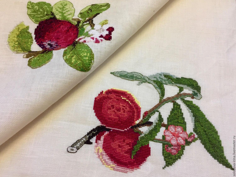 схемы вышивки яблока