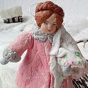 Подарки к праздникам ручной работы. Ярмарка Мастеров - ручная работа Ватная елочная игрушка  ГЛАФИРА АНДРЕЕВНА. Handmade.