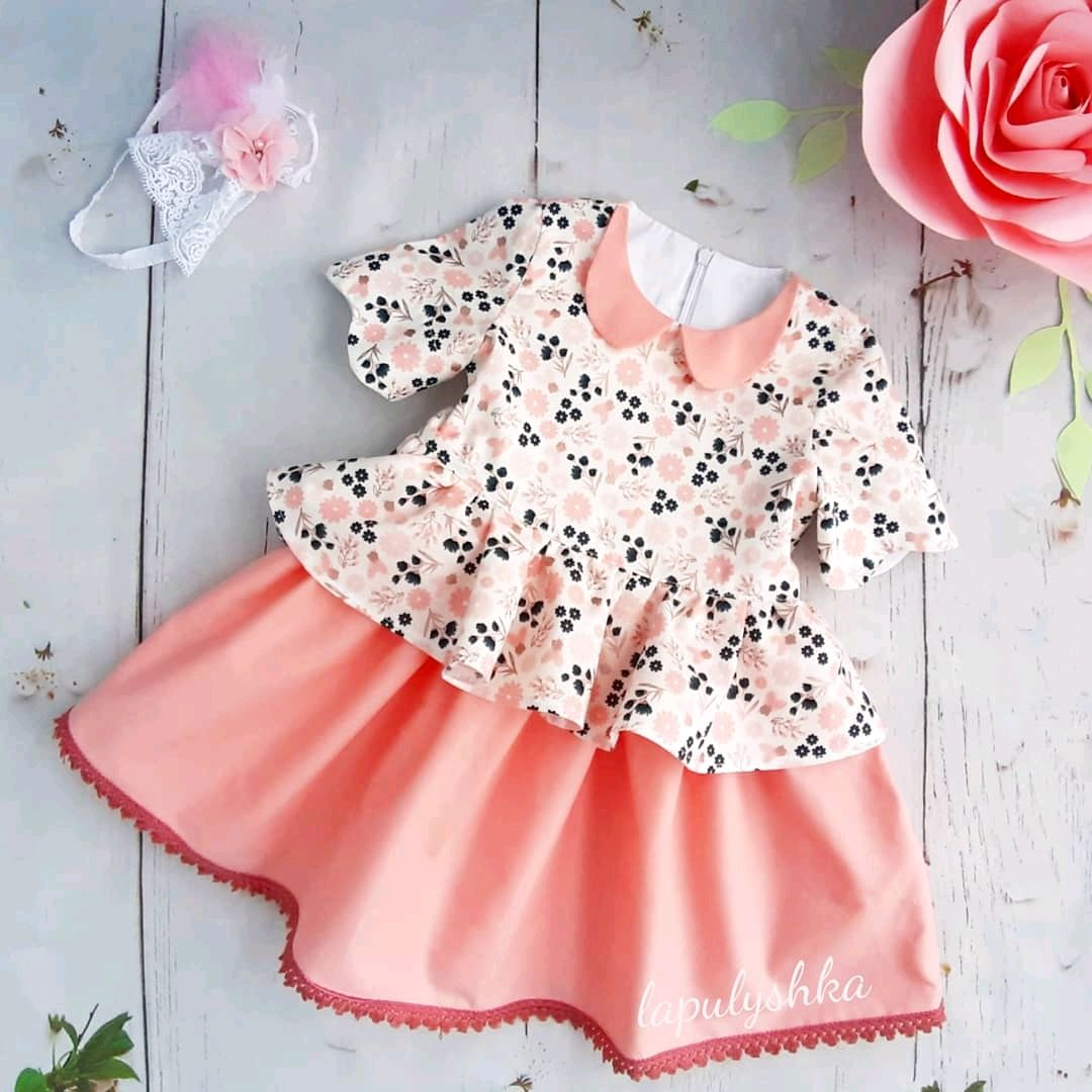 Платье праздничное из хлопка США в винтажном стиле