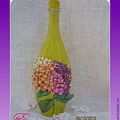 Посуда handmade. Livemaster - original item Decorative bottle,Fresh hydrangeas... Handmade.