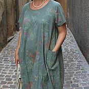Одежда ручной работы. Ярмарка Мастеров - ручная работа Платье Батик нефритовый пастельный. Handmade.