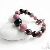 Украшения handmade. Livemaster - original item Bracelet with rhodonite